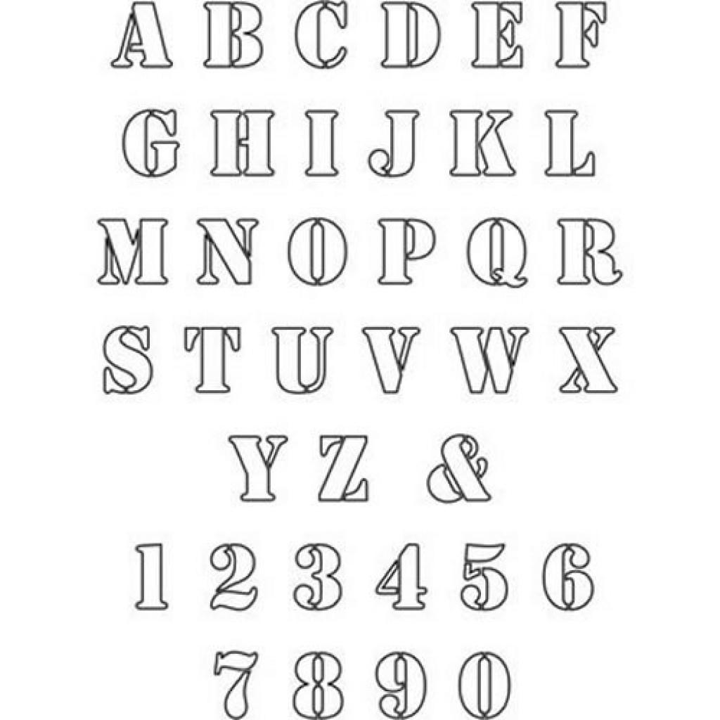 2 Inch Letter Stencils To Print Free Alphabet Letter Stencils To In - One Inch Stencils Printable Free