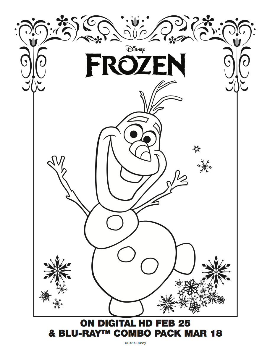20 Awesome Things To Color | Colour In Pages | Frozen Coloring - Free Printable Coloring Pages Disney Frozen