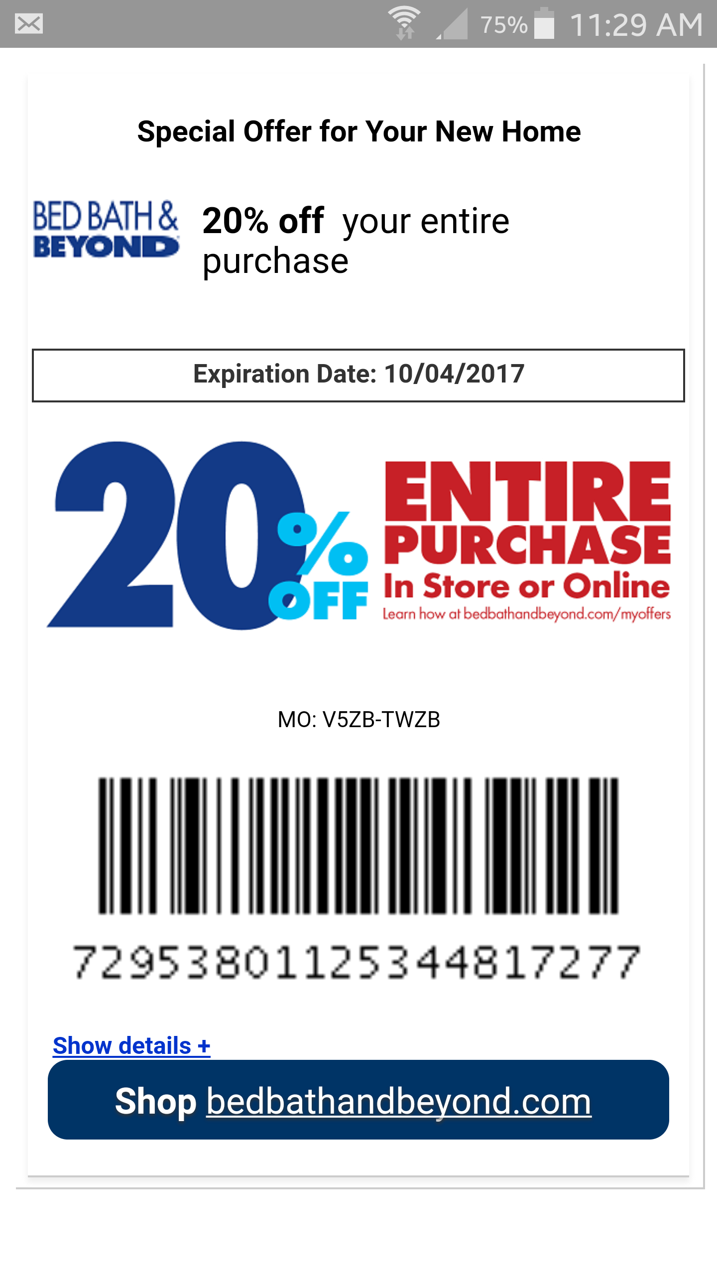 20% Bed Bath And Beyond : Coupons - Free Printable Bed Bath And Beyond Coupon 2019