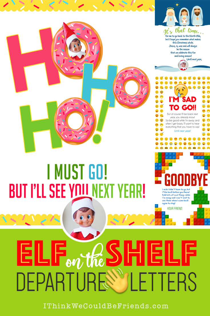 20+ Elf On The Shelf Departure Letters– Many New Ideas For This Year! - Elf On A Shelf Goodbye Letter Free Printable