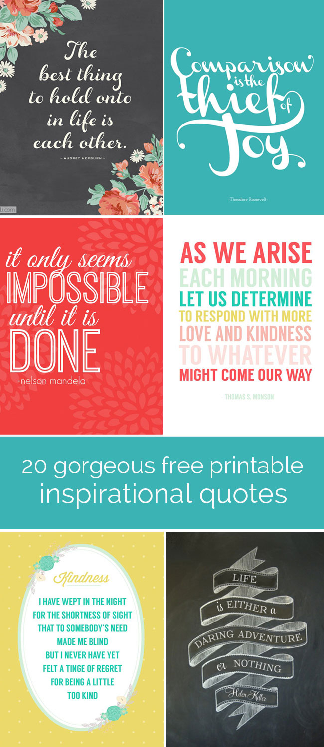 20 Gorgeous Printable Quotes | Free Inspirational Quote Prints - Free Printable Quote Stencils