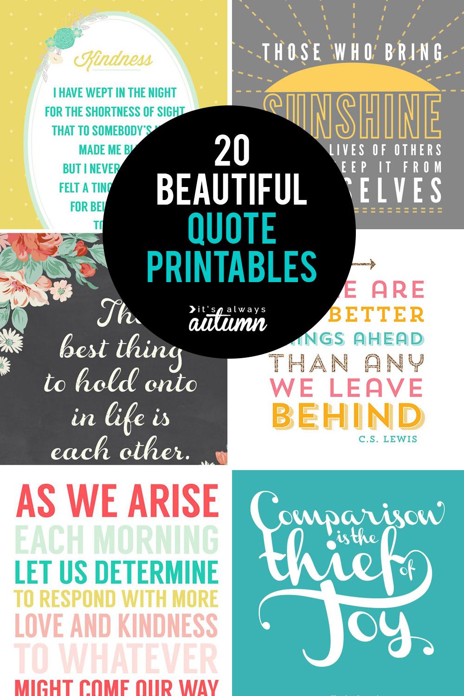 20 Gorgeous Printable Quotes | Free Inspirational Quote Prints - Free Printable Quotes For Office