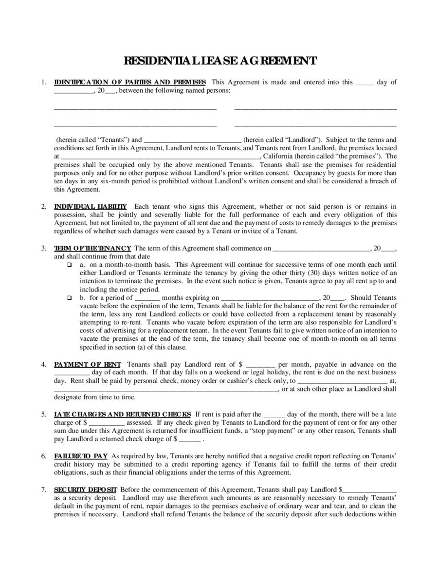 2019 Rental Agreement - Fillable, Printable Pdf & Forms | Handypdf - Rental Agreement Forms Free Printable