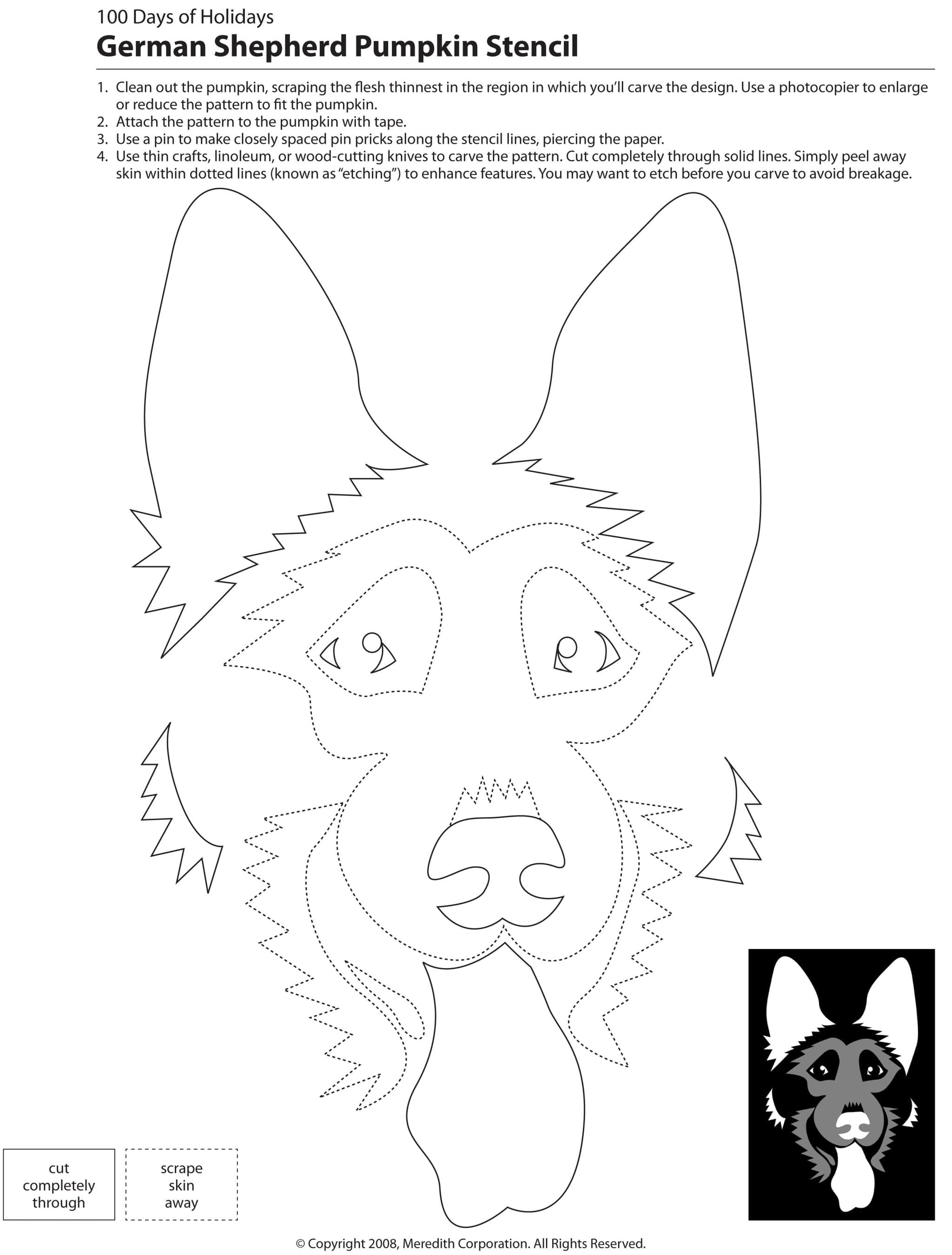 22 Free Pumpkin Carving Dog Stencils (Breed Specific)   Applique - Free Printable Pumpkin Carving Templates Dog