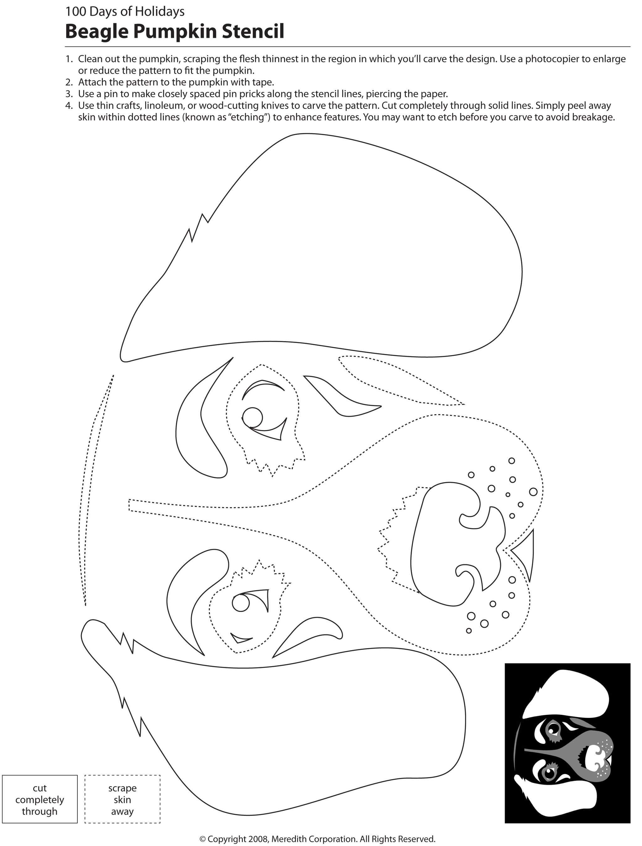 22 Free Pumpkin Carving Dog Stencils (Breed Specific)   Dogs - Free Printable Pumpkin Carving Templates Dog