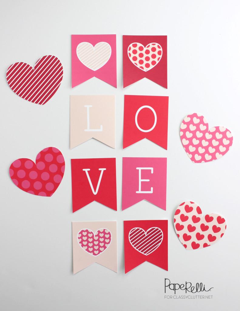 24 Amazing Valentine's Day Printables - Classy Clutter - Free Printable Valentine's Day Decorations