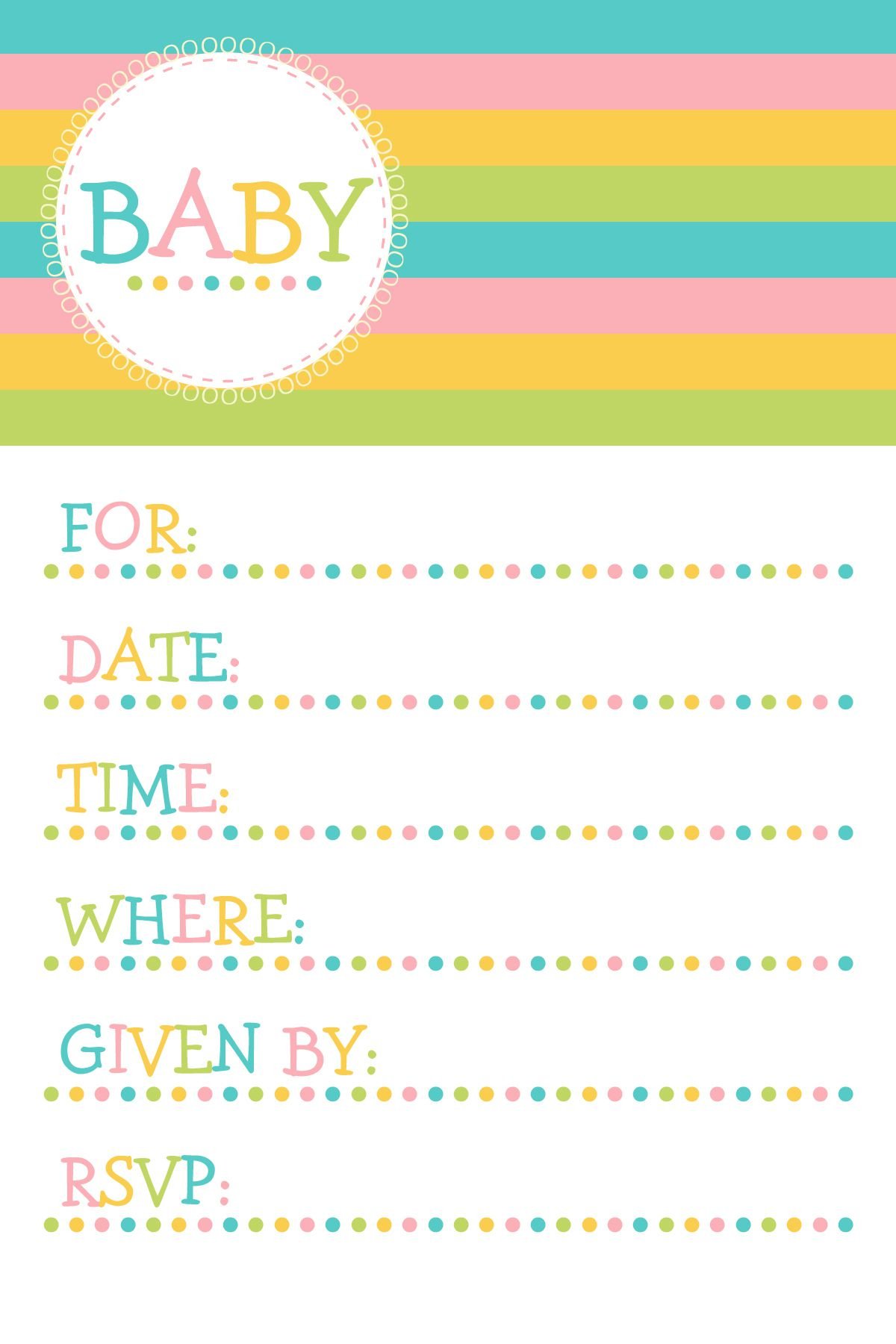 25 Adorable Free Printable Baby Shower Invitations - Baby Invitations Printable Free