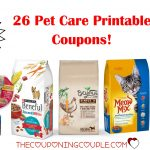 26 Pet Care Printable Coupons ~ Over $42 In Savings!!!   Free Printable 9 Lives Cat Food Coupons