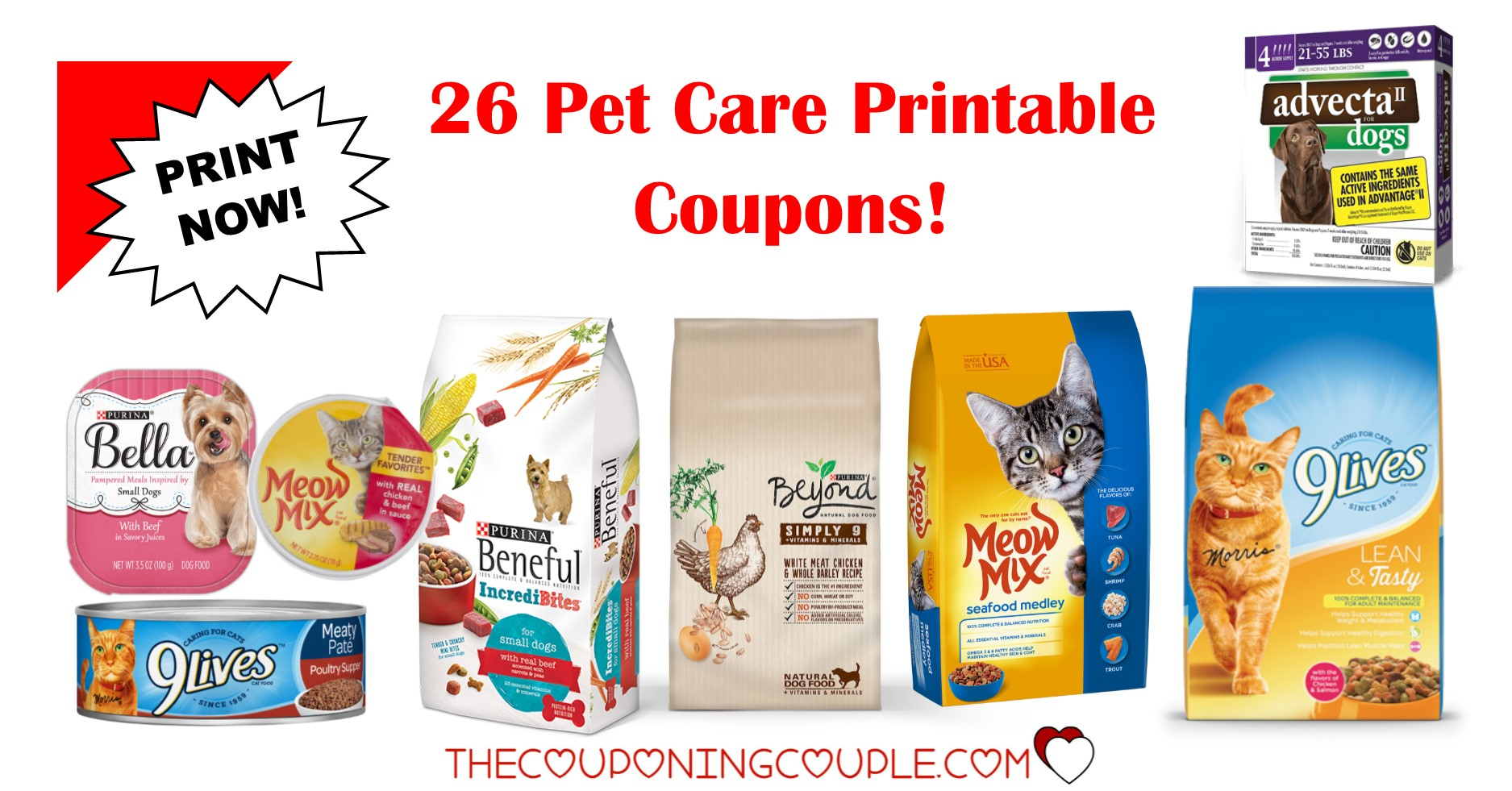 26 Pet Care Printable Coupons ~ Over $42 In Savings!!! - Free Printable 9 Lives Cat Food Coupons