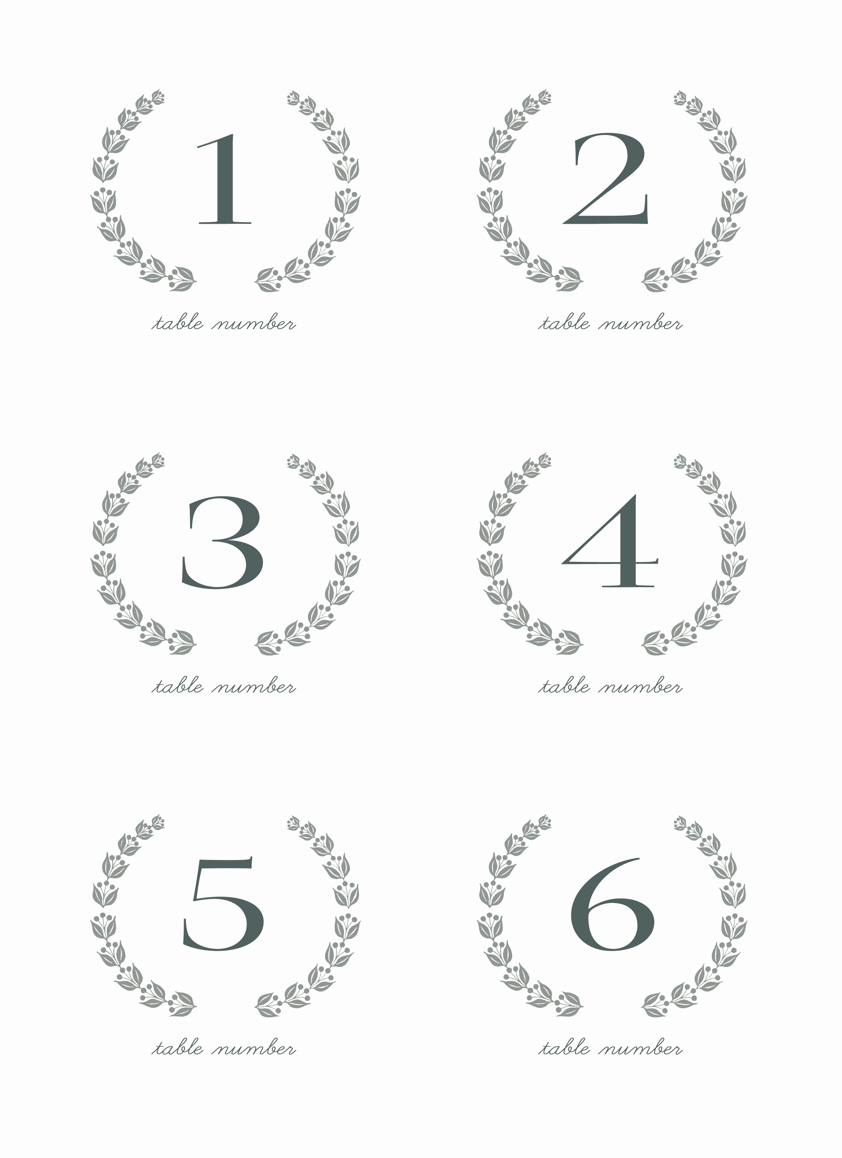 28 Elegant Printable Table Numbers | Kittybabylove - Free Printable Table Numbers 1 20