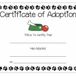 29 Images Of Puppy Party Adoption Certificate Template | Photomeat   Free Printable Stuffed Animal Adoption Certificate