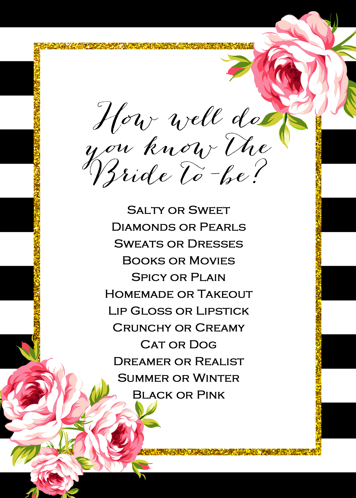 2_Free_Printable_Games Archives - Bridal Shower Ideas - Themes - How Well Does The Bride Know The Groom Free Printable