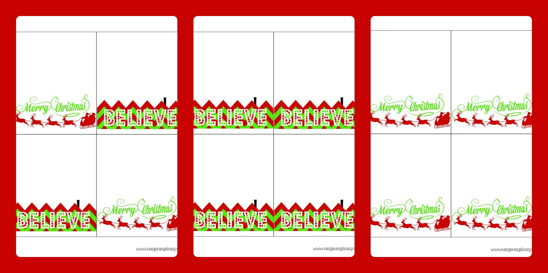 3 Free Printable Christmas Treat Bag Toppers - Easy Peasy Pleasy - Free Printable Christmas Bag Toppers Templates