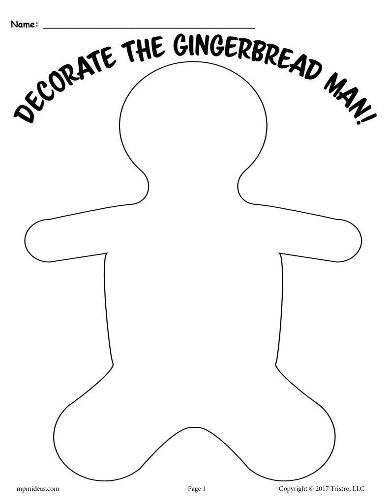 3 Free Printable Gingerbread Man Activities | Preschool Idea - Free Printable Gingerbread Man Activities