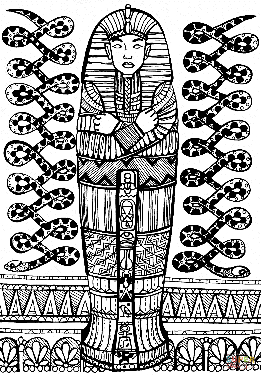 3 Sarcophagus Drawing Printable For Free Download On Ayoqq - Free Printable Sarcophagus