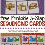 3 Step Sequencing Cards Free Printables For Preschoolers   Free Printable Sequencing Worksheets For Kindergarten