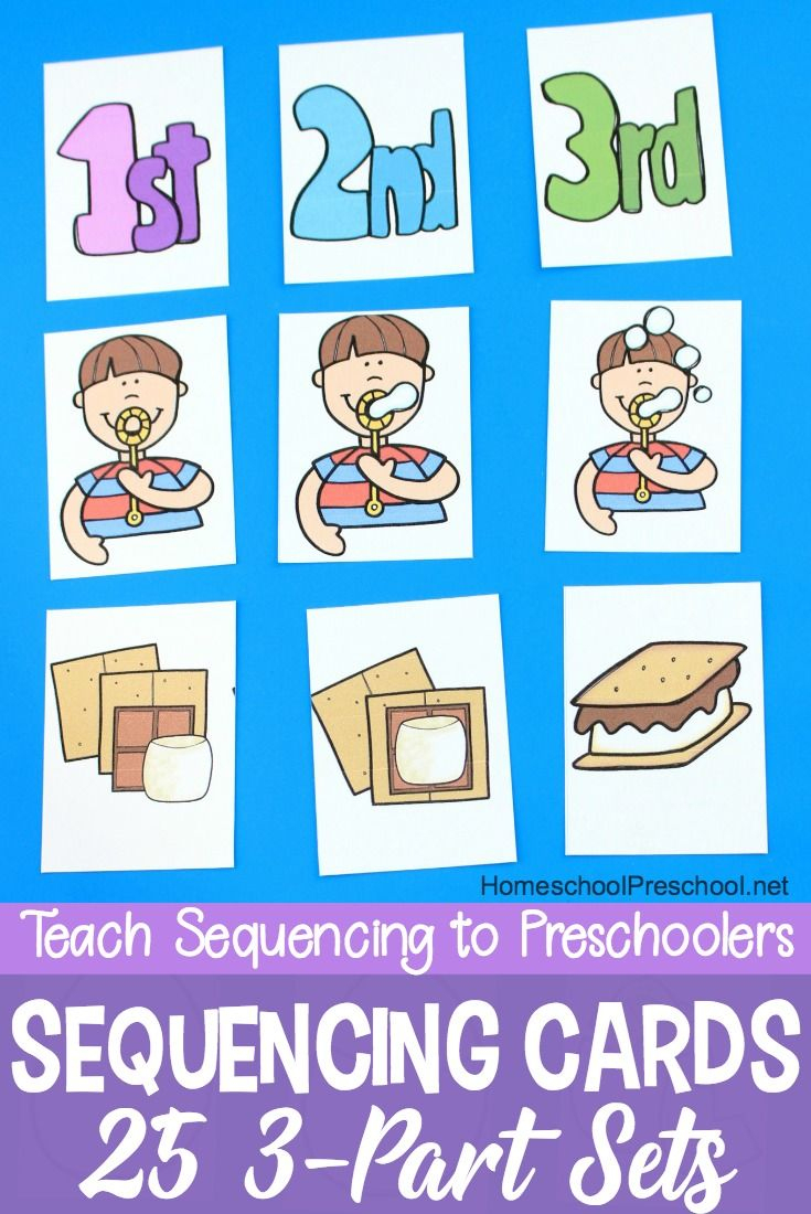 3 Step Sequencing Cards Free Printables For Preschoolers | Speech - Free Printable Sequencing Cards