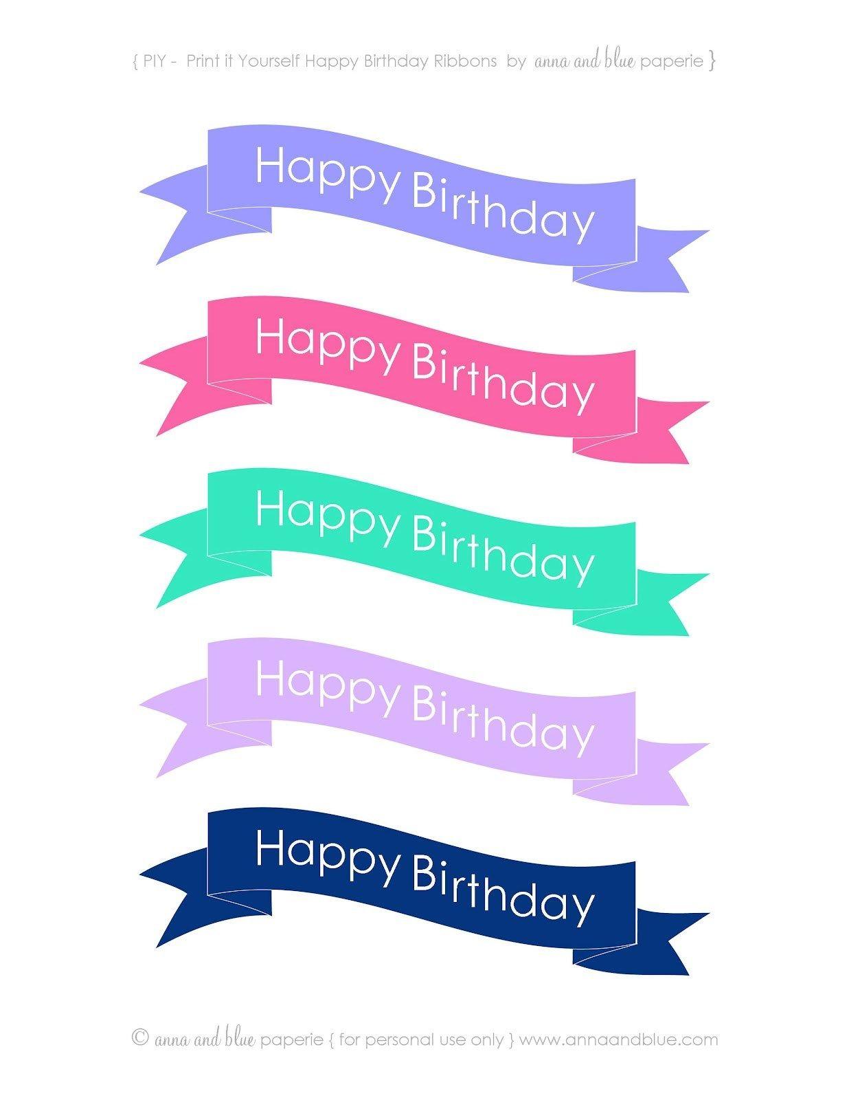 30+ Elegant Picture Of Happy Birthday Cake Banner | Designs - Free Printable Happy Birthday Cake Topper