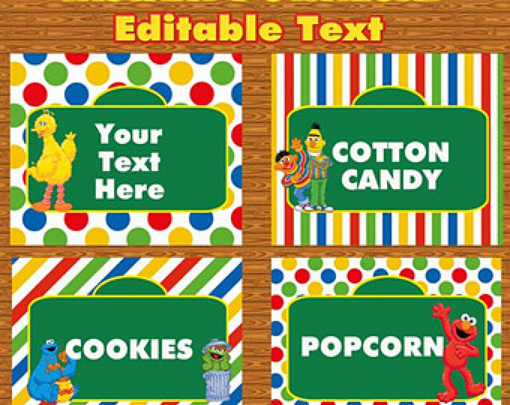 30 Images Of Sesame Street Labels Template | Tonibest For Free - Free Printable Sesame Street Food Labels