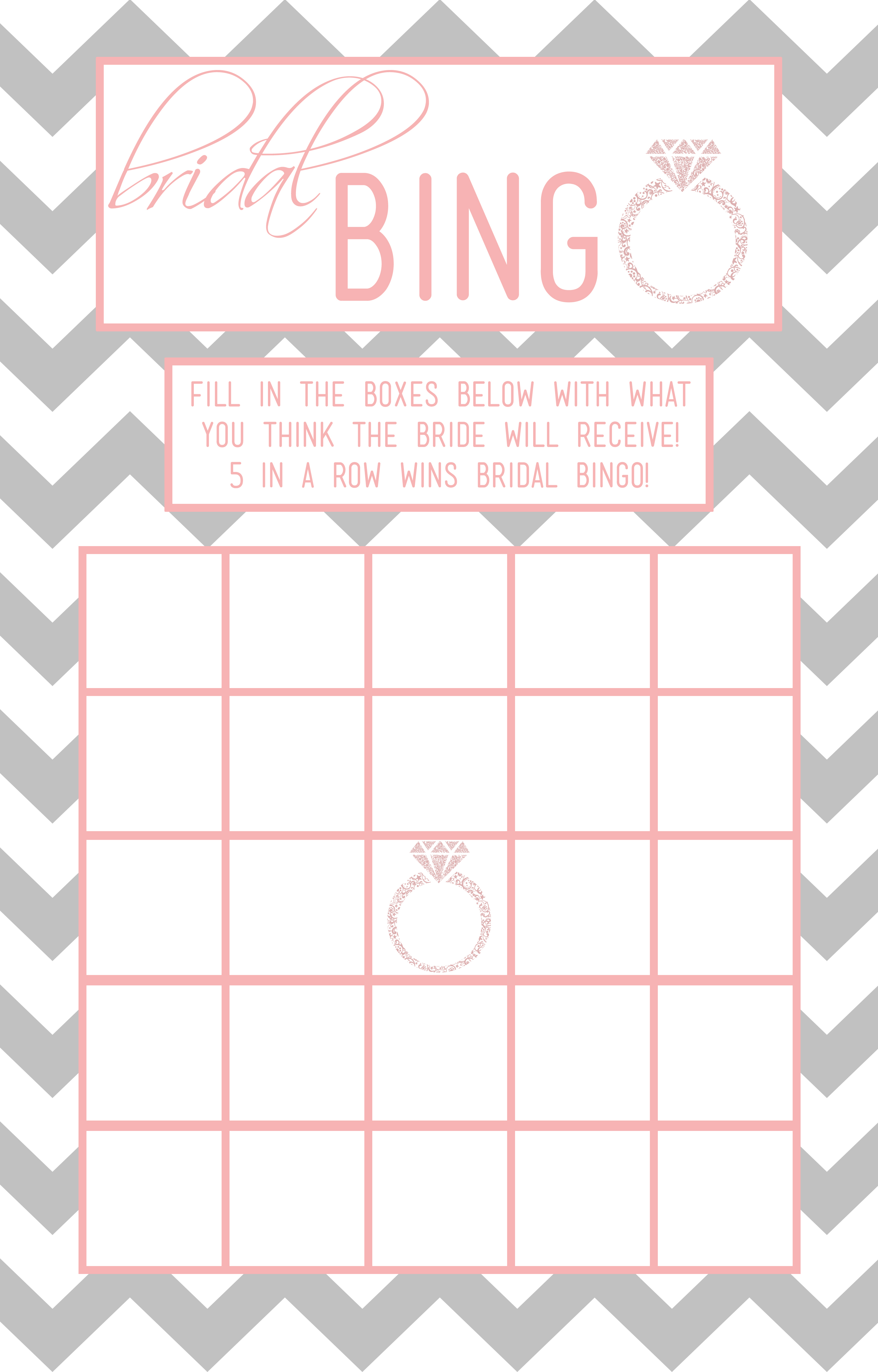 30 Images Of Template For Wedding Shower Bingo | Helmettown - Free Printable Bridal Shower Blank Bingo Games