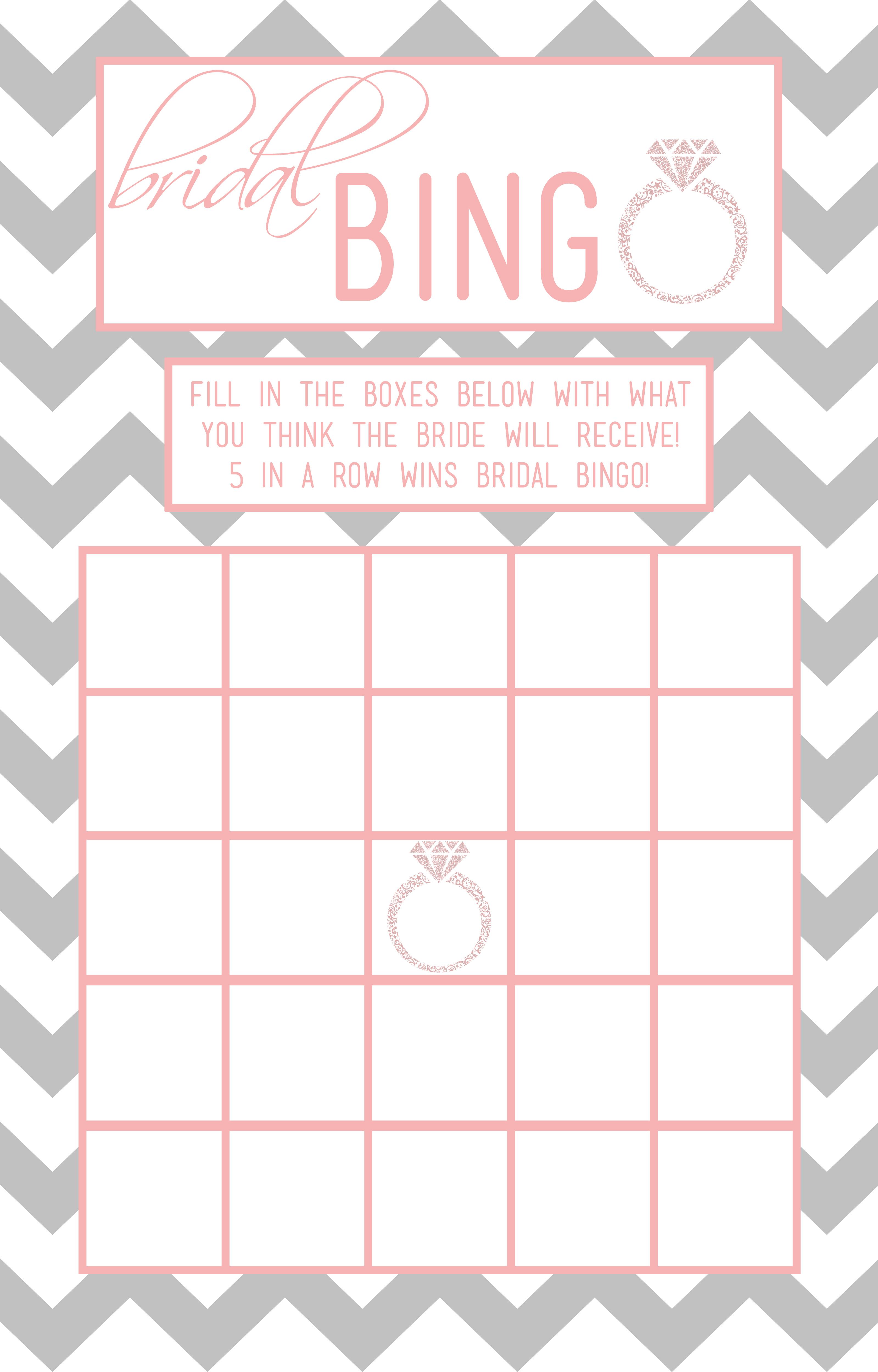 30 Images Of Template For Wedding Shower Bingo   Helmettown - Free Printable Bridal Shower Blank Bingo Games