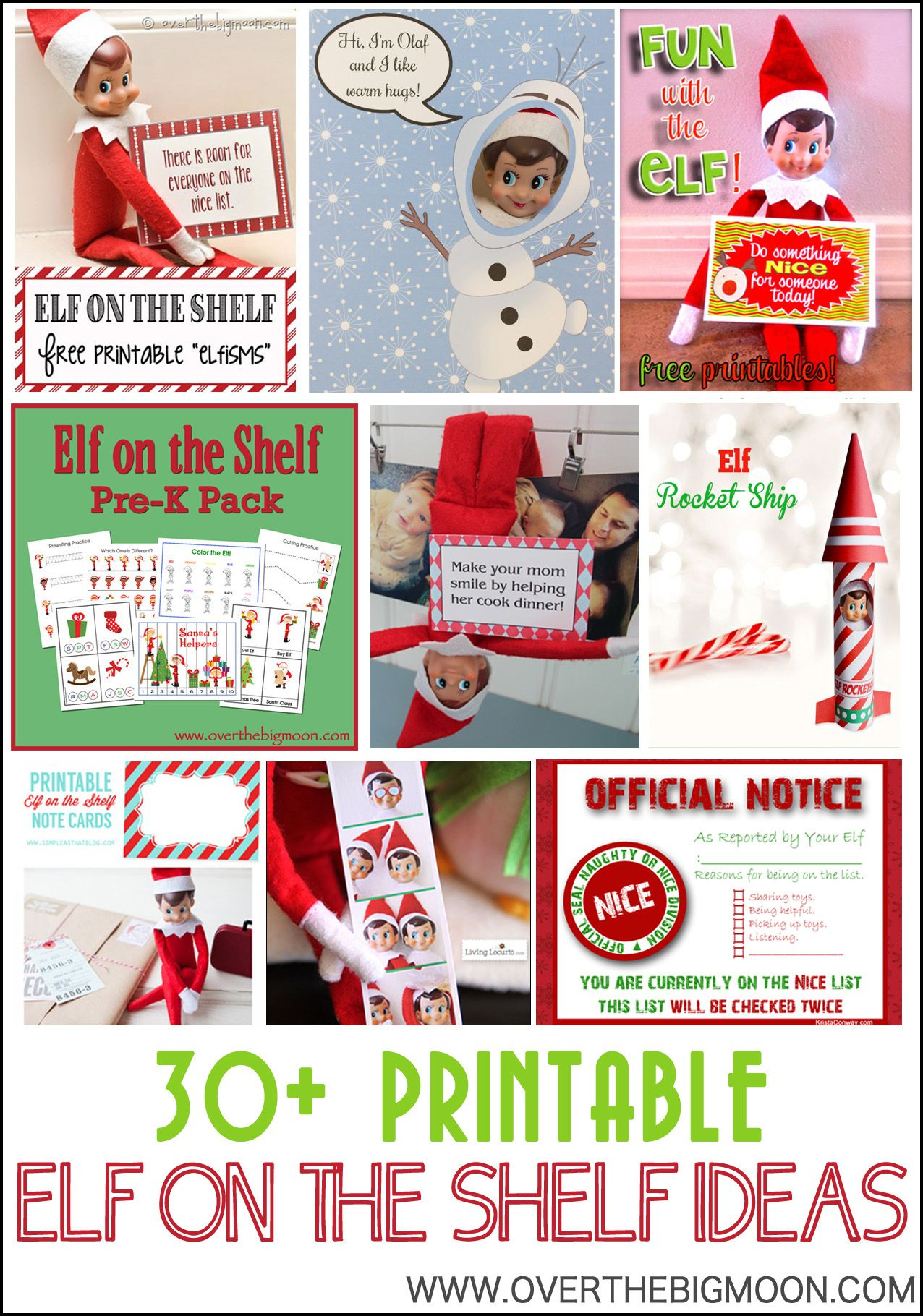 30+ Printable Elf On The Shelf Ideas | Elf On The Shelf Ideas - Elf On The Shelf Free Printable Ideas
