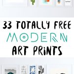 33 Totally Free Modern Art Printables For Your Home | *all Things   Free Printable Wall Art Decor
