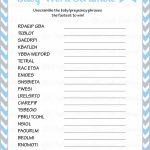 36 Adorable Baby Shower Word Scrambles | Kittybabylove   Free Printable Baby Shower Word Search