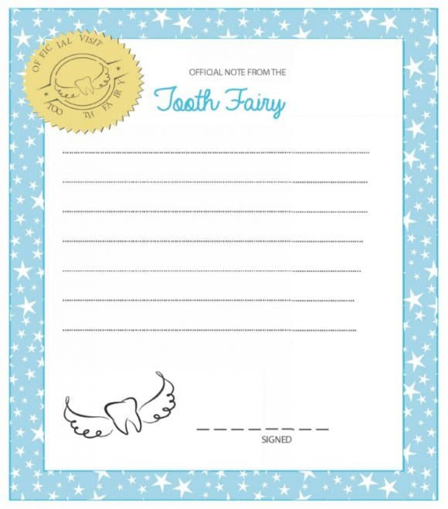 37 Tooth Fairy Certificates & Letter Templates - Printable Templates - Tooth Fairy Stationery Free Printable