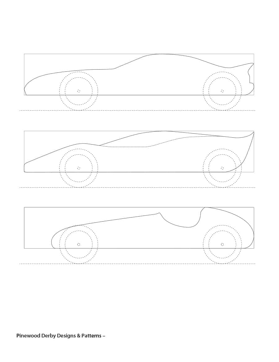 39 Awesome Pinewood Derby Car Designs & Templates - Template Lab - Free Printable Car Template