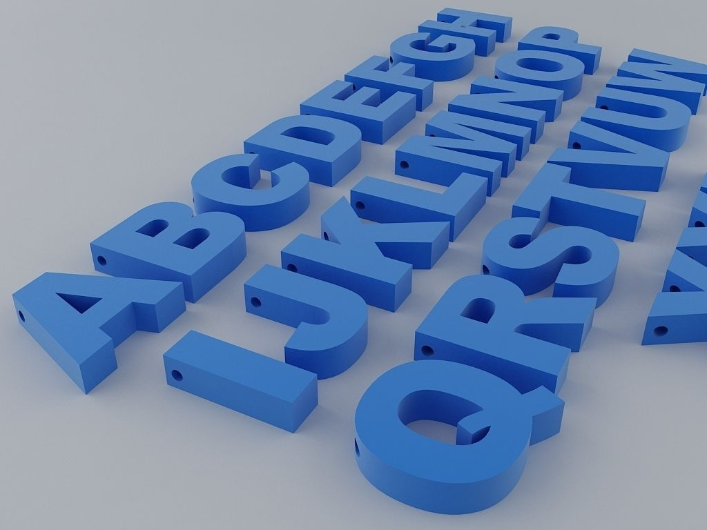 3D Print Model A To Z English Letters Alphabet | Cgtrader - Free Printable 3D Letters