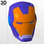 3D Printable Model: Mark Vii Tony Stark Armor (Mk 7 Suit) From Iron   Free Printable Ironman Mask