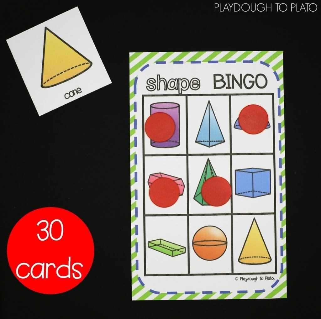 3D Shape Activities | Kinder Math | Pinterest | 3D Shapes Activities - 3D Shape Bingo Free Printable