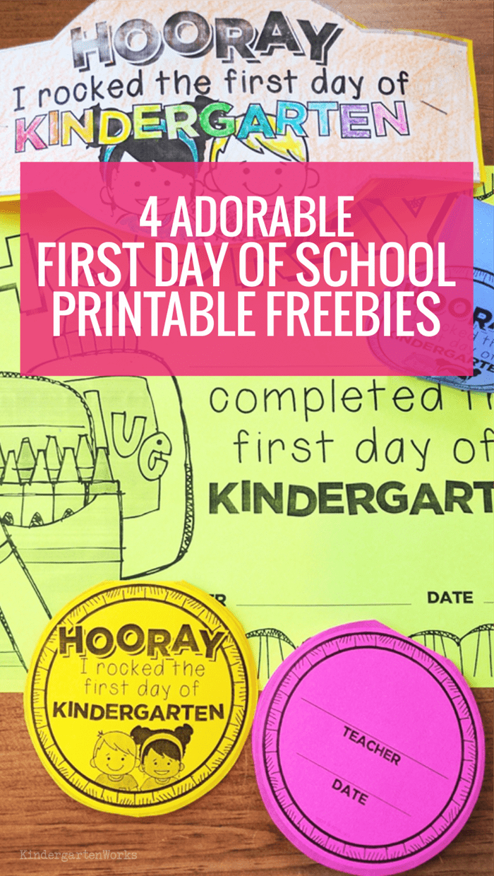 4 Adorable First Day Of School Printable Freebies | Kindergartenworks - Free Printable First Day Of School Certificate