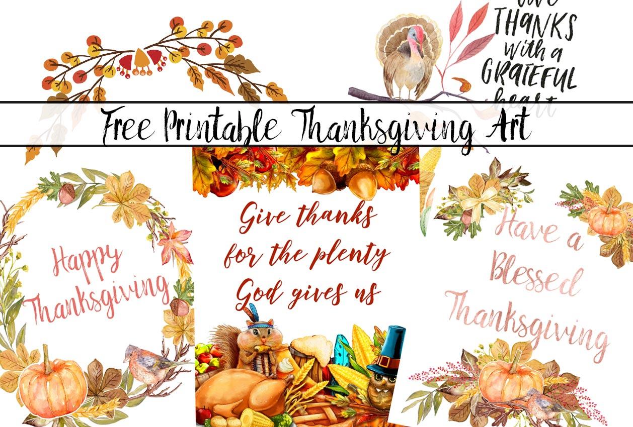 4 Gorgeous Free Printable Thanksgiving Wall Art Designs - Free Printable Thanksgiving Images