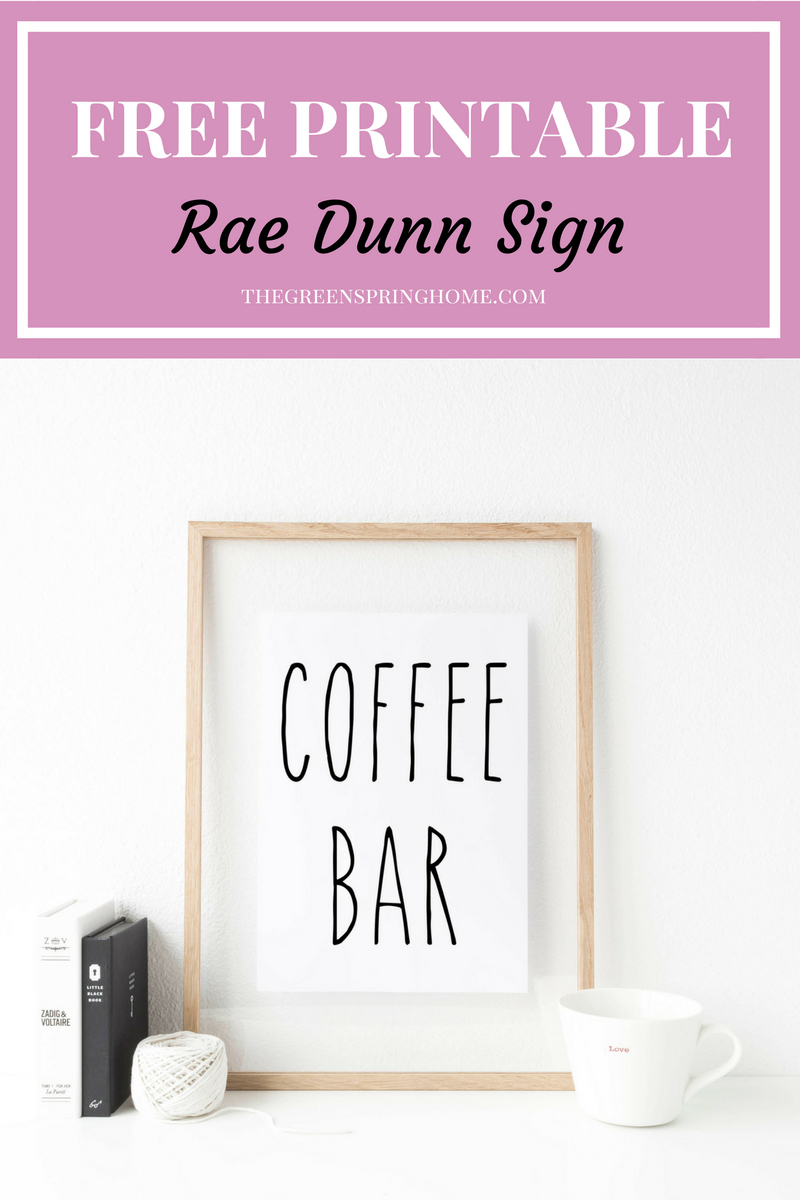 4 Reasons To Love Rae Dunn Mugs | Printables Love | Coffee Bar Signs - Free Printable Coffee Bar Signs
