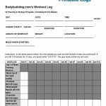 40+ Effective Workout Log & Calendar Templates   Template Lab   Free Printable Gym Workout Plans