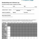 40+ Effective Workout Log & Calendar Templates   Template Lab   Free Printable Gym Workout Plans