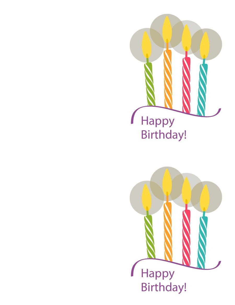 40+ Free Birthday Card Templates - Template Lab - Free Printable Birthday Cards