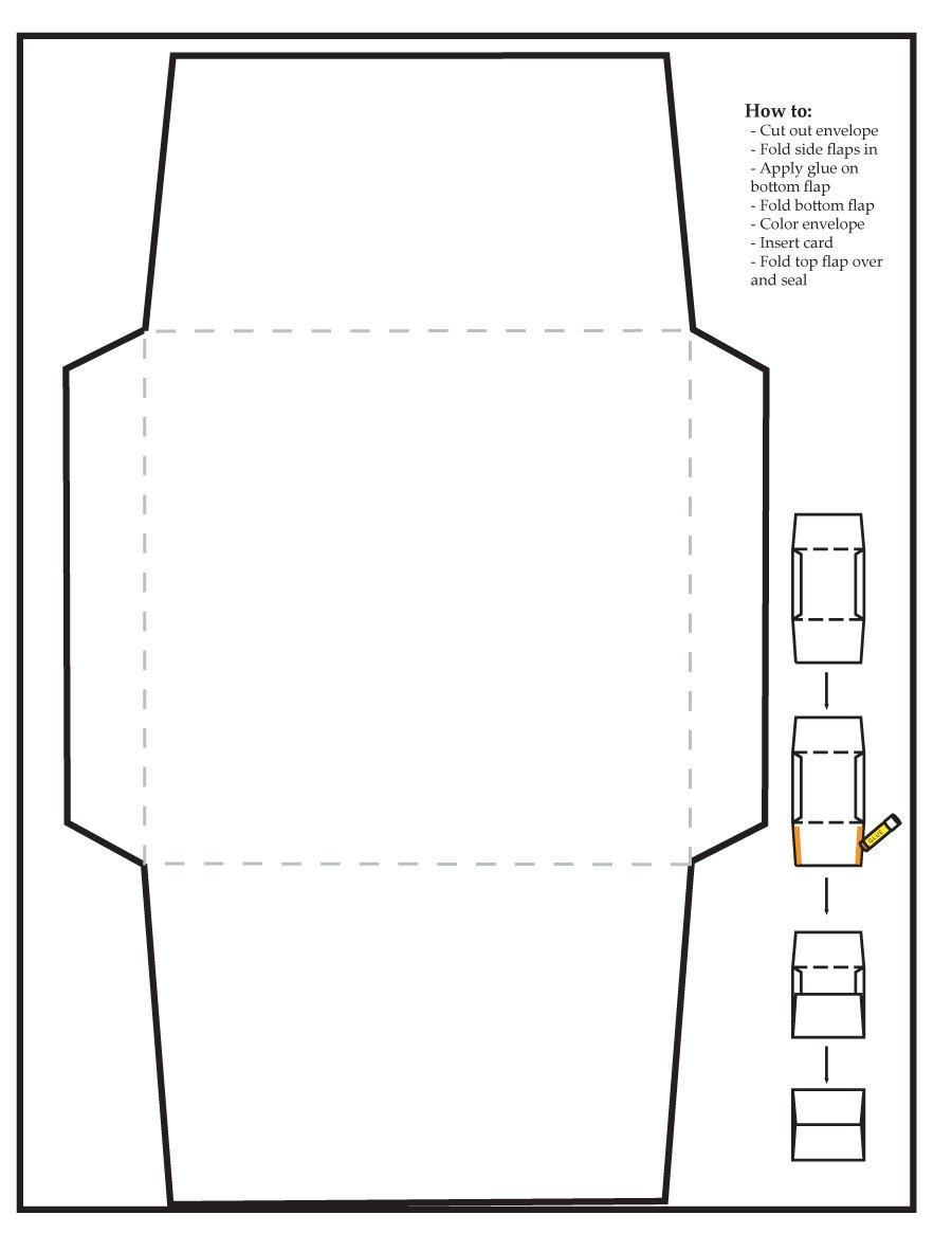 40+ Free Envelope Templates (Word + Pdf) - Template Lab - Free Printable Envelope Size 10 Template
