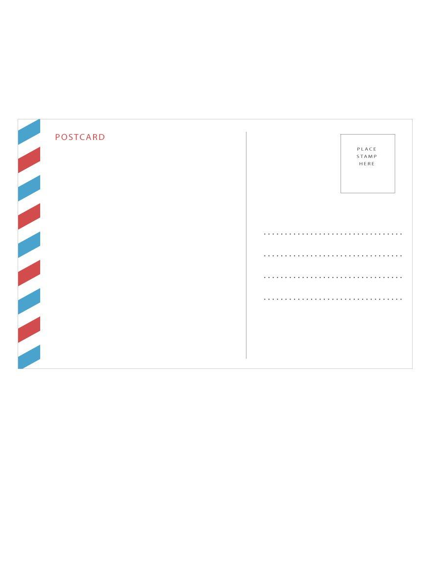 40+ Great Postcard Templates & Designs [Word + Pdf] - Template Lab - Free Printable Postcards