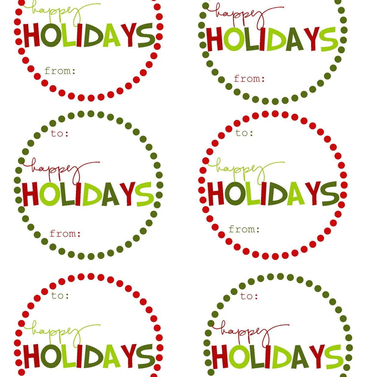40 Sets Of Free Printable Christmas Gift Tags - Free Online Gift Tags Printable