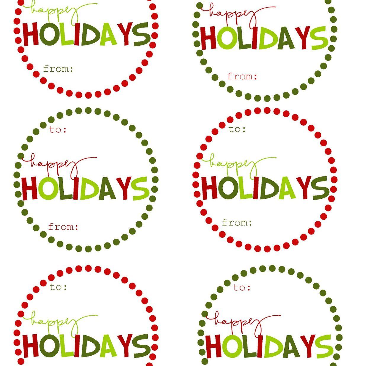 40 Sets Of Free Printable Christmas Gift Tags - Free Printable Toe Tags