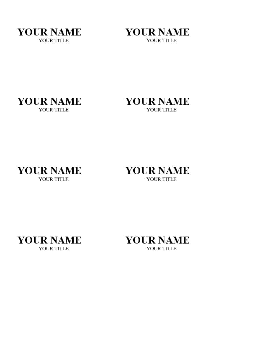 47 Free Name Tag + Badge Templates - Template Lab - Name Tag Template Free Printable