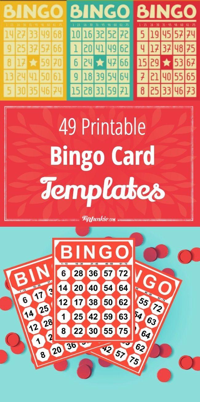 49 Printable Bingo Card Templates | Printables | Pinterest | Bingo - Free Printable Bingo Cards And Call Sheet