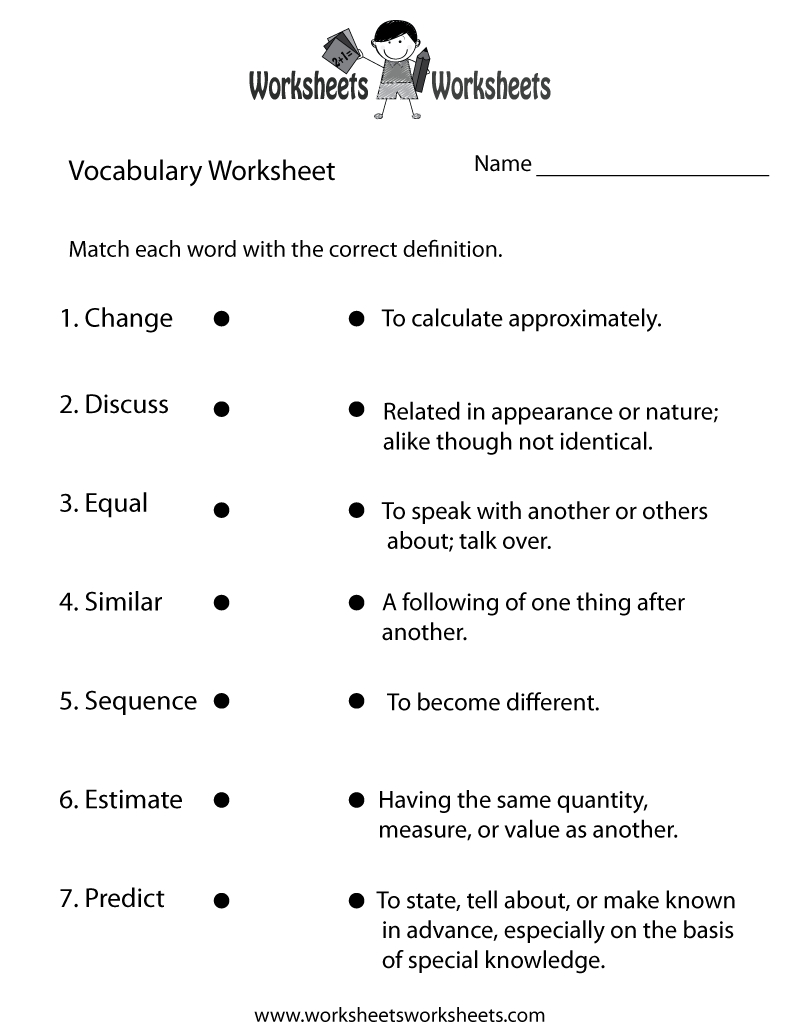 4Th Grade English Worksheets | Two Ways To Print This Free - Free Printable 7Th Grade Vocabulary Worksheets