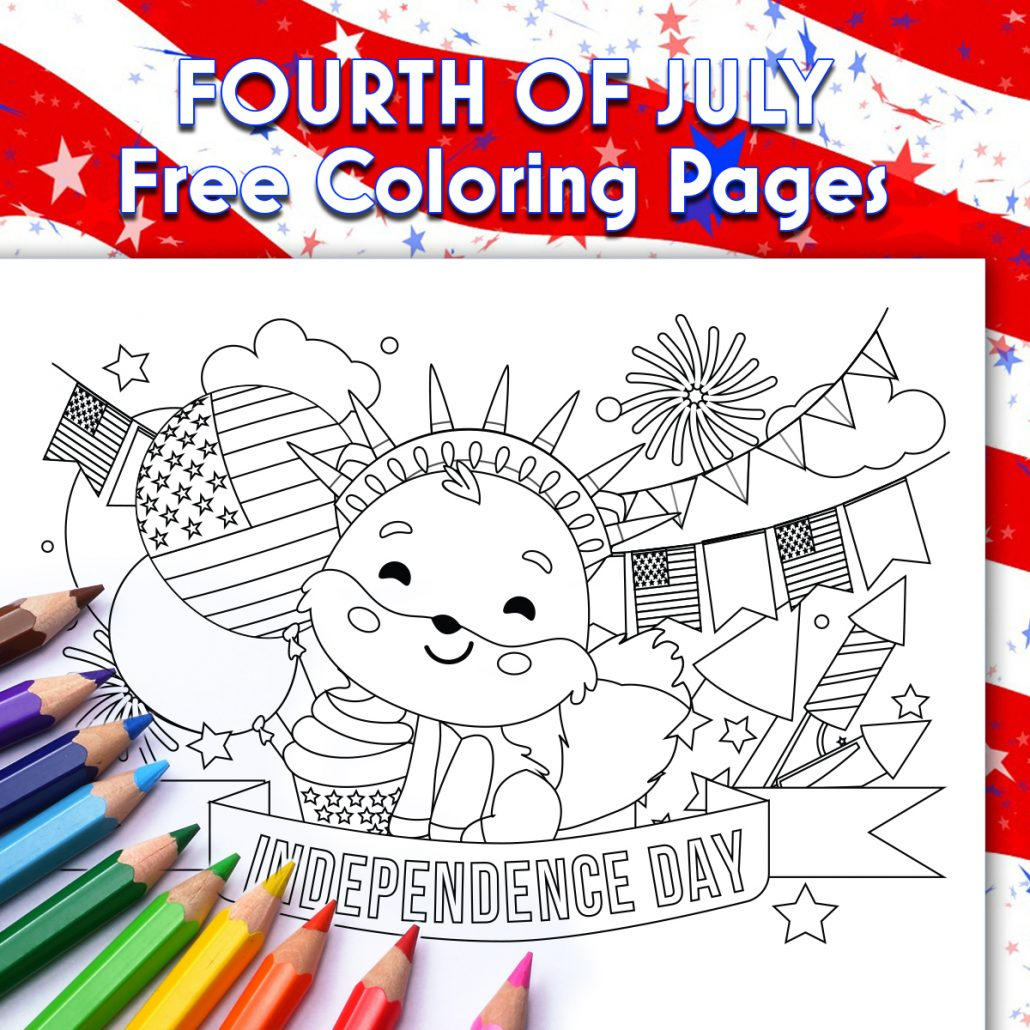 4Th Of July - Free Coloring Printables - Thank You, Me - Free Printable 4Th Of July Stationery