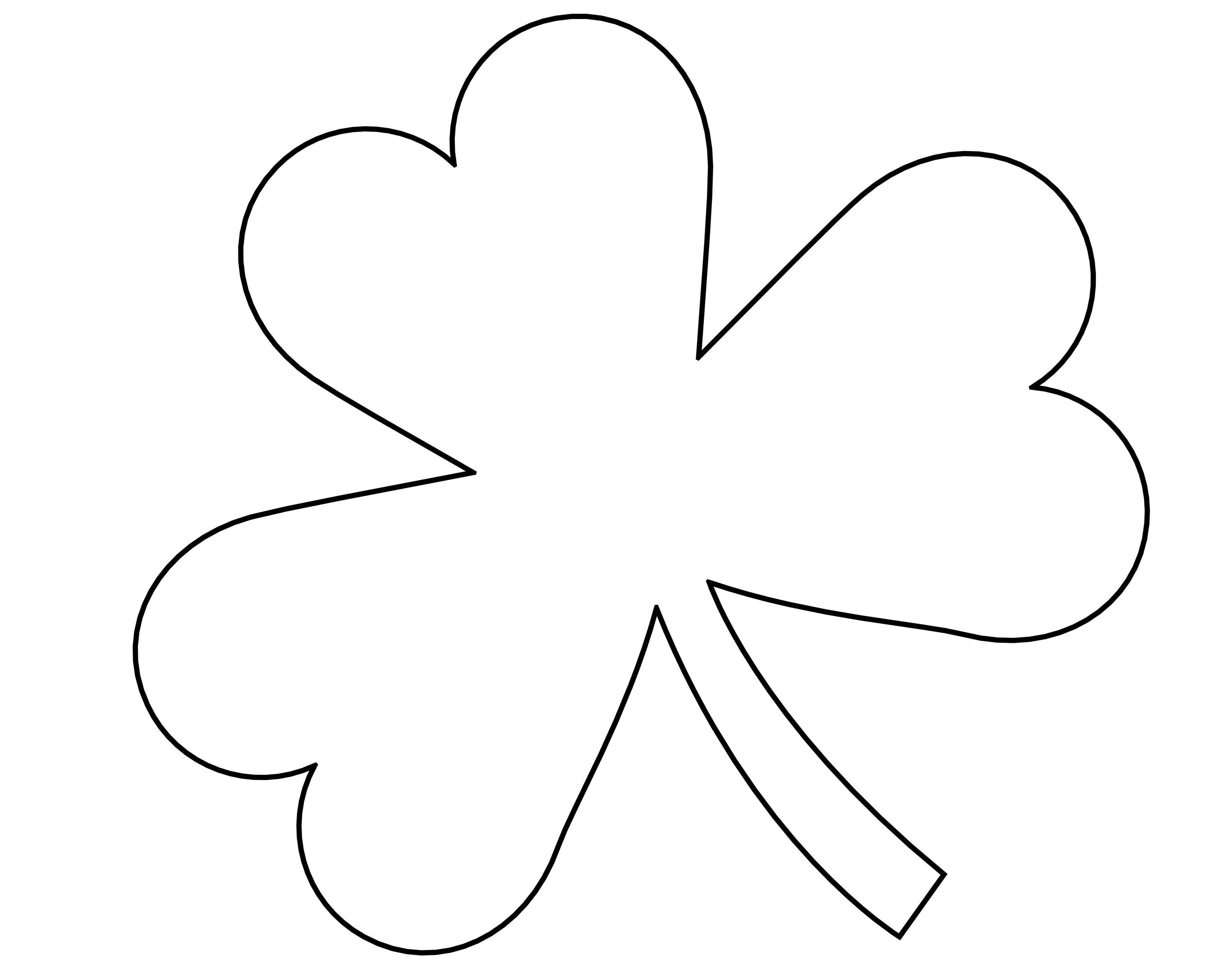 5 Best Images Of Four Leaf Shamrock Template Printable - St - Shamrock Template Free Printable