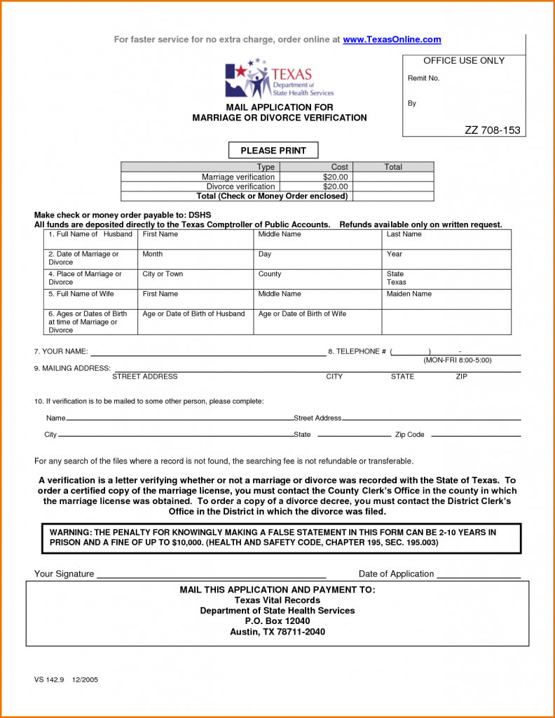 5 Free Divorce Papers In Texas | Divorce Document Inside Free - Free Printable Divorce Forms Texas