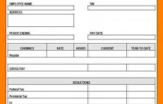 5+ Free Printable Paycheck Stub Generator | St Columbaretreat House – Free Printable Pay Stubs